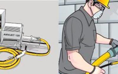 ANVIJET 120 – Transporte e projeção de argamassa para chapisco e emboço - reboco