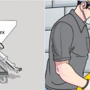 ANVIJET-FLEX – Transporte e projeção de argamassa ou gesso